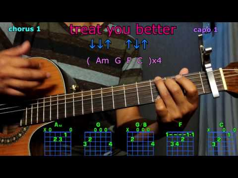 treat you better shawn mendez guitar chords