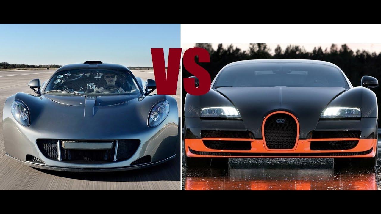 Hennessy car vs bugatti