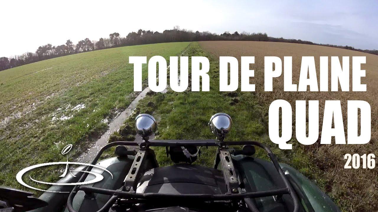Tour de plaine en quad Janvier - 2016