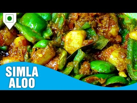 How to cook rajasthani besan gatta how to make simla aloo mumbai restaurant style easy cook with food junction forumfinder Image collections