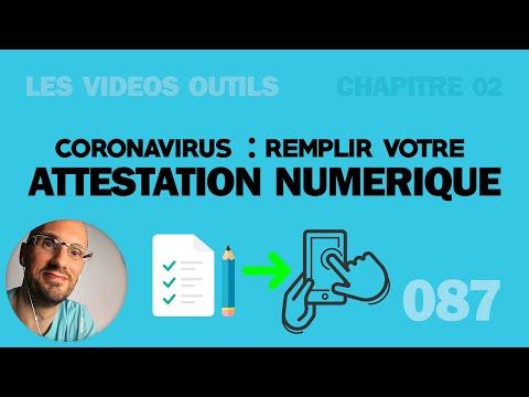 Coronavirus: Comment Remplir l'attestation de sortie sur le téléphone