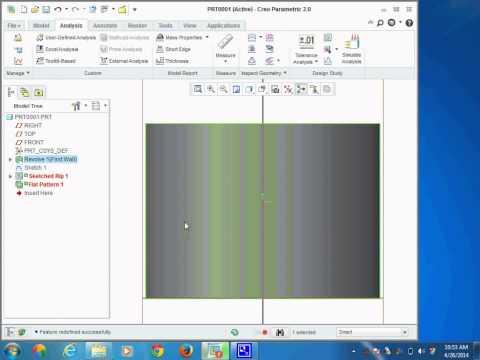 sheet metal development creo 2 0  MBM College , jodhpur , rameshwar deg