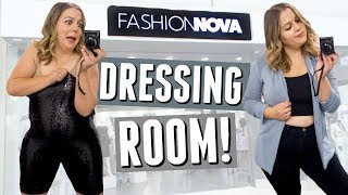 I Went to the Fashion Nova Store in LA (inside the dressing room)