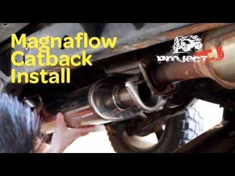 magnaflow jeep tj exhaust install project tj ep 14
