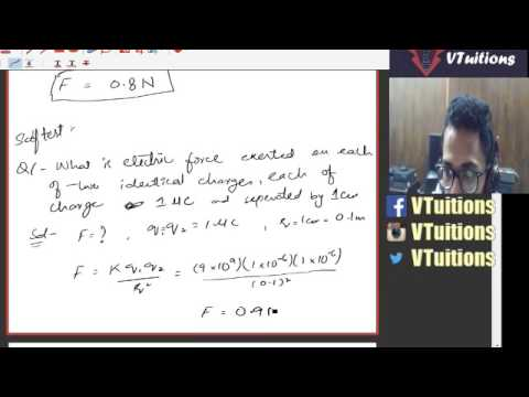 Chapter 12 Numerical of Electrostatics Physics Second Year Class - Sindh  Board in Urdu and Hindi