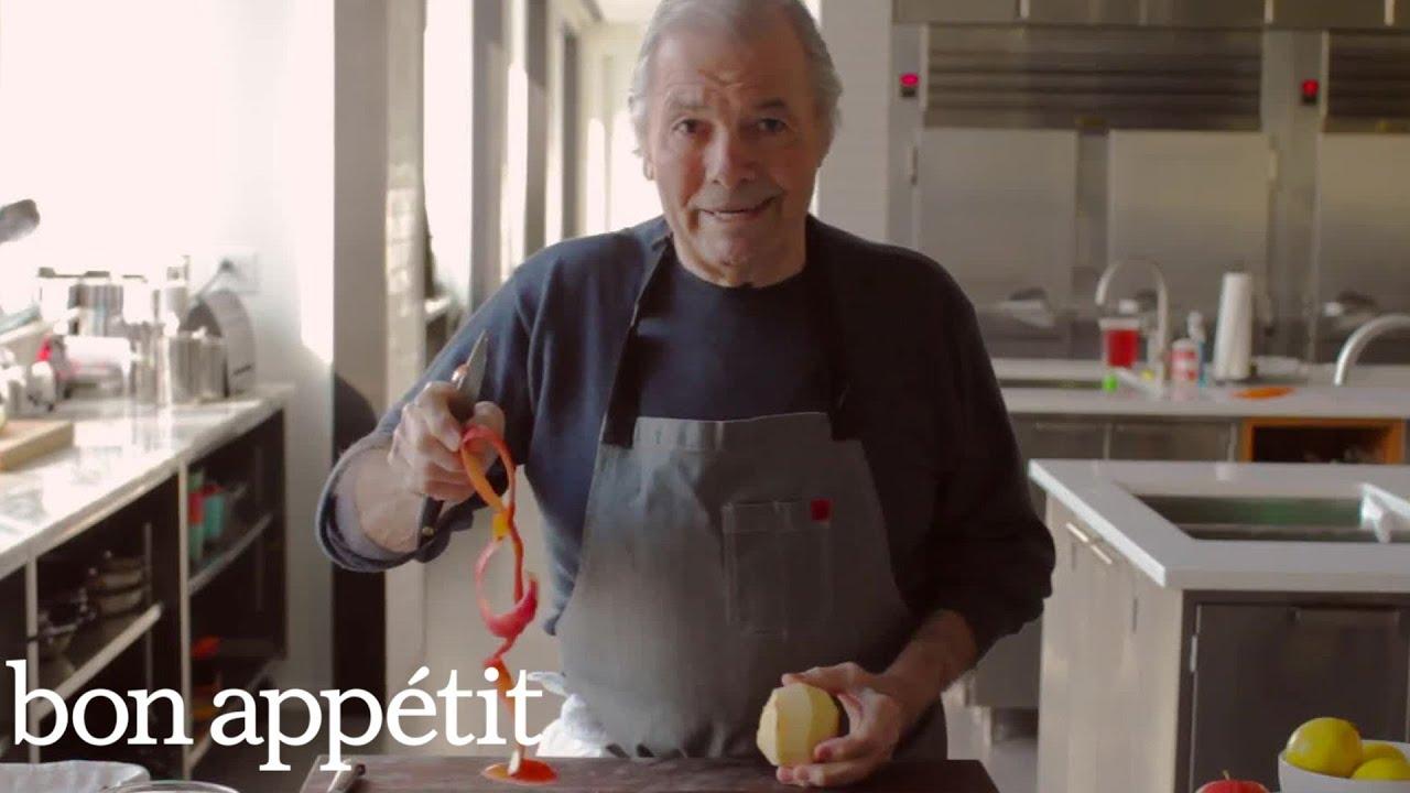 Chef Jacques Pépin Peels an Apple | Bon Appétit