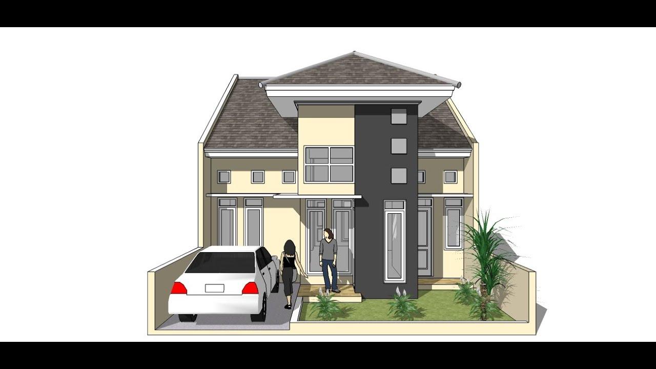 73 Gambar Rumah 2 Lantai Sketchup Gratis
