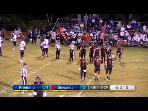 Fredonia High School Varsity Football Vs Gowanda 9/6/19