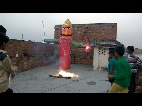Big ravan dahan putla  at home in lucknow 2016