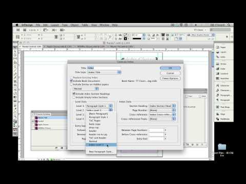 09 Generating Master Indexes for InDesign CS6 Books