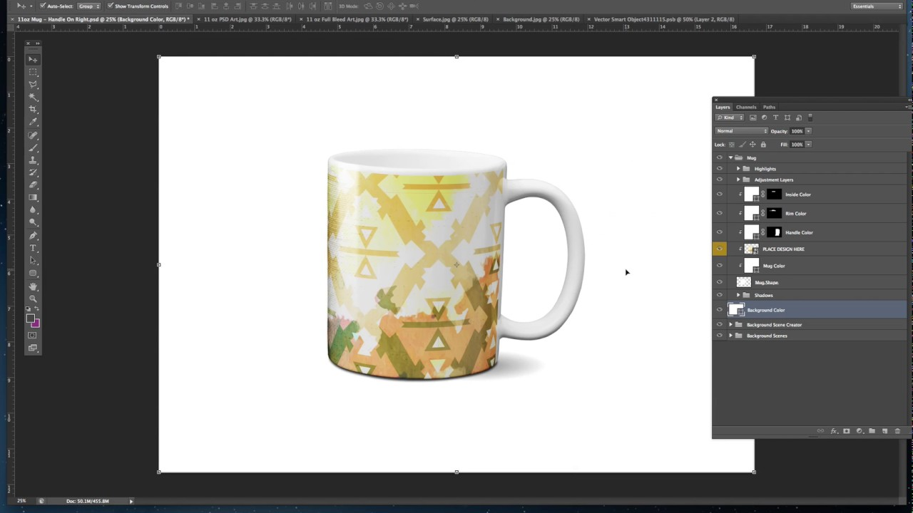Layered Tutorial Psd Mug Mockup For Photoshop ikuXZOPT