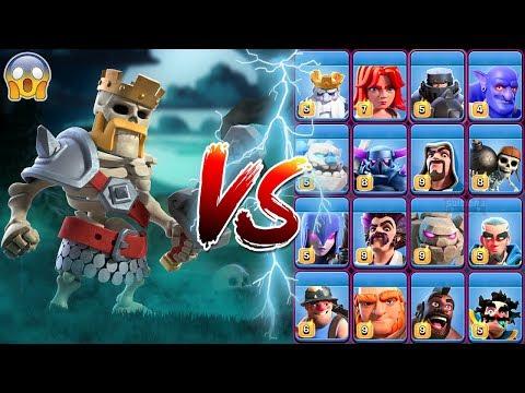 Skeleton Barbarian King Vs All Troops COC | Barbarian King Vs All Troops Clash Of Clans
