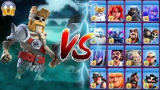 Skeleton Barbarian King vs All Troops COC   Barbarian King vs All Troops Clash of Clans