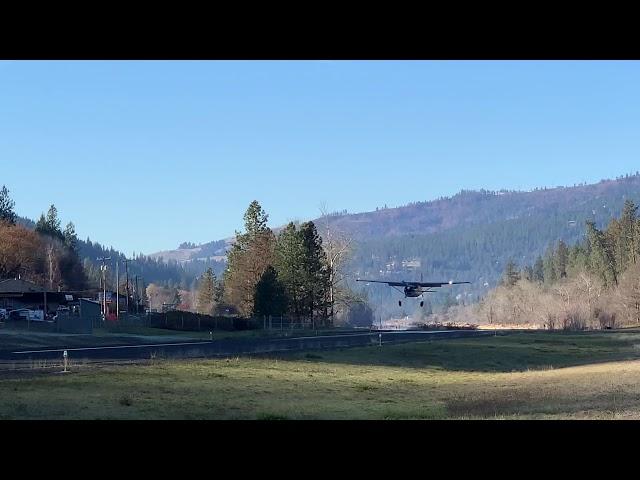 Cessna 180 landing Orofino, Idaho