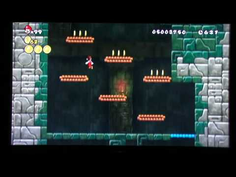 Super Mario Bros Wii World 4 Tower Secret Exit 480p Youtube