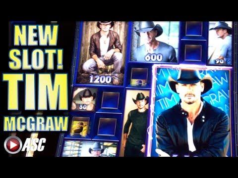 "★NEW SLOT!! TIM MCGRAW!!★ ""BIG WIN"" Slot Machine Bonus (Aristocrat)"