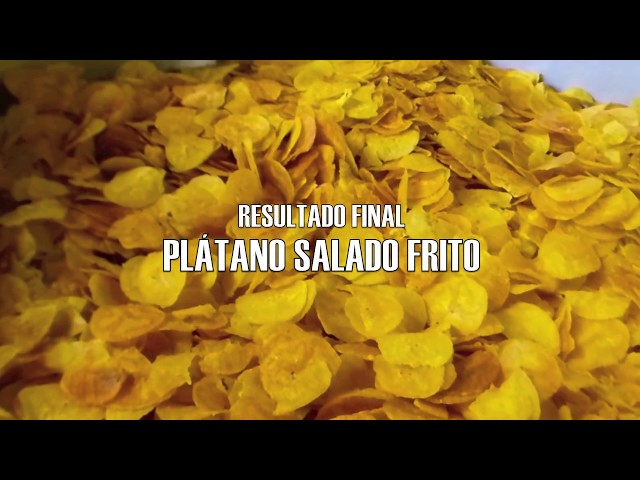 Línea para Snacks - Chips de Plátano frito - Vulcano Tecnología Aplicada