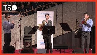TSO brass trio performs for Music Monday at the National Arts Centre