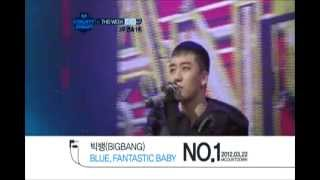 Video 2012.03.22 This Week No.1 BIGBANG 'Fantastic Baby' @Mcountdown download MP3, 3GP, MP4, WEBM, AVI, FLV Juli 2018