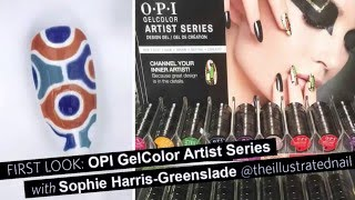 Opi Gelcolor Artist Series Nail Art With The Illustrated Nail (first Look)
