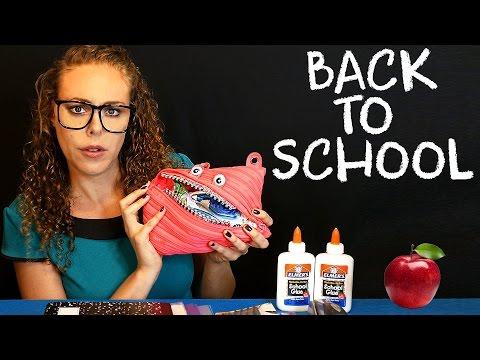 Back To School ASMR Teacher Role Play School Supplies Soft Spoken Sticky Fingers Glue