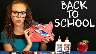 Back To School ASMR Teacher Role Play School Supplies Soft Spoken Sticky Fingers Glue