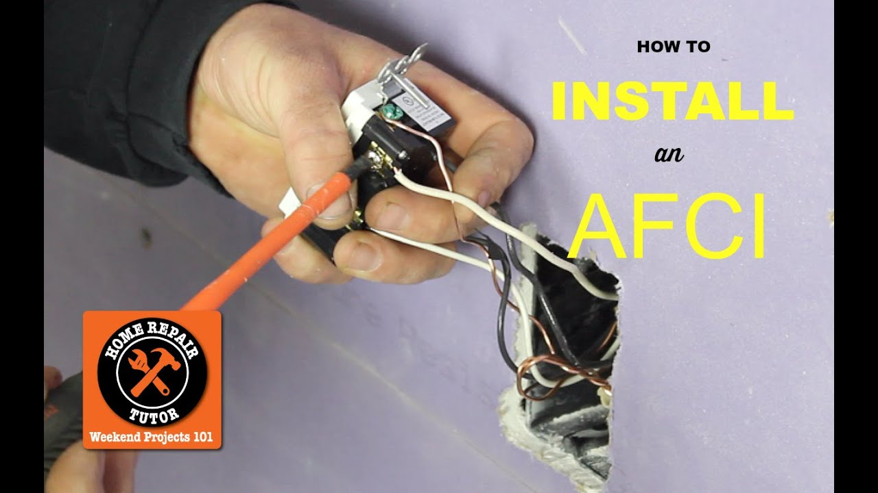 hight resolution of how to install an afci outlet by home repair tutor