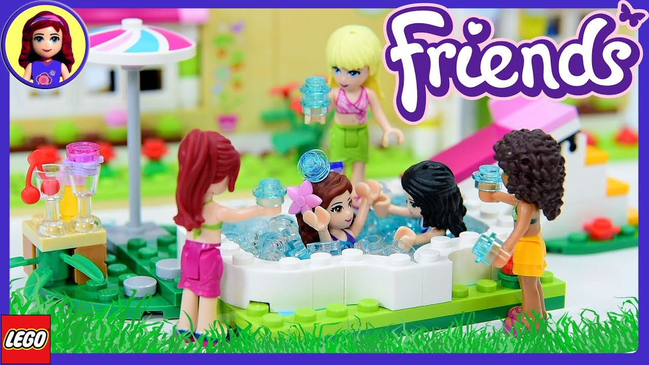 Water Fight Lego Friends Olivia S Garden Pool Build