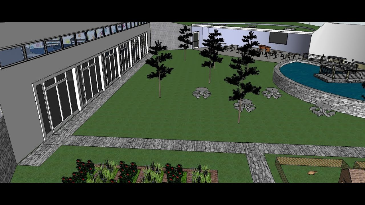 Sketch up 3d future school building youtube