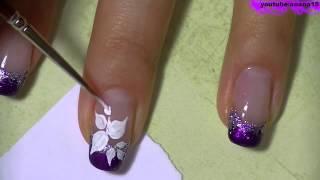 видео Рисунки на ногтях