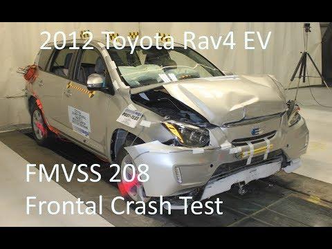 2012-2014 Toyota Rav4 EV FMVSS 208 Frontal Crash Test (25 Mph)