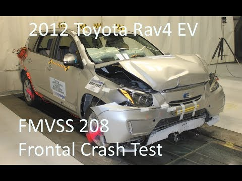 2012-2014 Toyota Rav4 EV FMVSS 208 Frontal Crash Test (25 Mph)