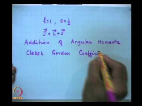 Mod-08 Lec-33 Addition of Angular Momentum: Clebsch Gordon Coefficient