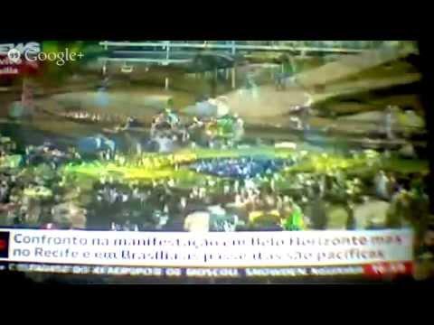 Globo News-manifestações 26/06 Recife, BH e Brasília  1