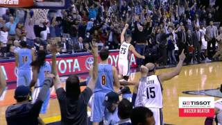 Marc Gasol Tips in the Shot for the Win! | Tissot Buzzer Beater | 11.08.16
