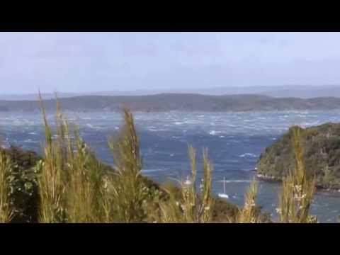 Westerly gale in Paterson Inlet, Stewart Island