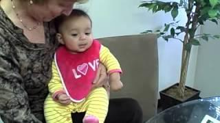 Infant visual development - visual tracking at 5 mos