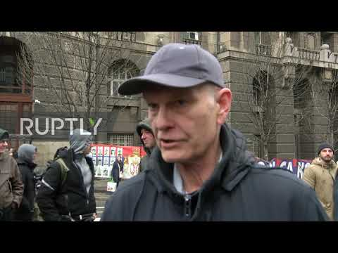 """Serbia: """"We are not safe anymore"""" - Anti-migrant demo held in Belgrade"""