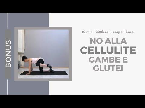 10min - Esercizi anticellulite gambe e glutei - 300kcal