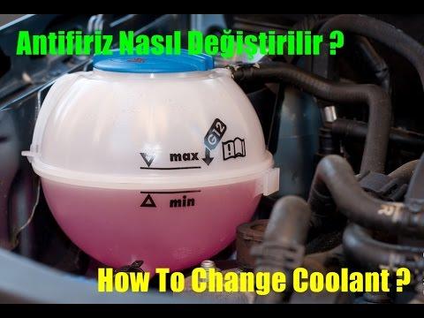 VW Antifiriz Nasıl Değiştirilir / How To Change VW Coolant
