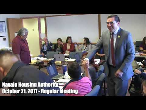Navajo Housing Authority Regular Board meeting - October 21, 2017