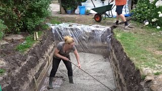 Nicole builds a swimming pool – Concrete Floor - Episode 2