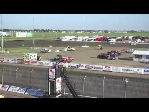 Red River Valley Speedway 06/24/2016 - IMCA Sport Mods Heat 1