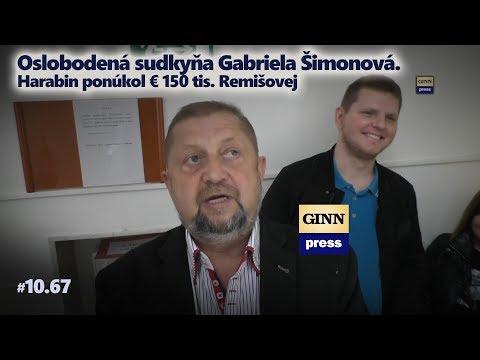 Oslobodená sudkyňa Gabriela Šimonová. Harabin ponúkol 150 tis. EUR Remišovej (upútavka) #10.67