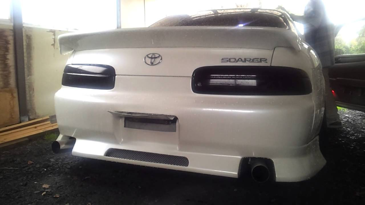 Toyota Soara Exhaust Sounds!! 30ソアラ二本出しワンオフマフラー 吹かし 爆音!! , YouTube