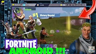 FORTNITE MOBILE ANDROID ON (BLUE-STACKS ANDROID EMULATOR) TÉLÉCHARGER ' GAMEPLAY TEST !!!