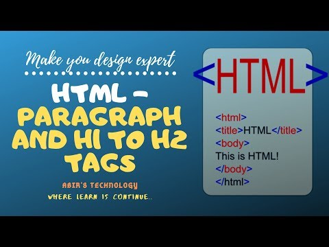Html Tutorial For Beginners | Paragraph and Heading Tag Example thumbnail