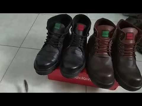 sepatu kickers safty boots kulit sapi asli