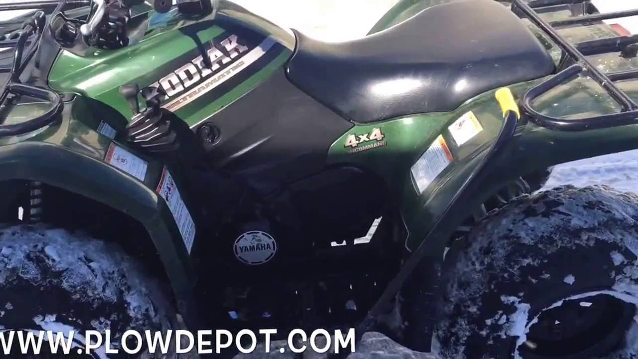 How does a Cycle Country ATV manual plow system work YouTube