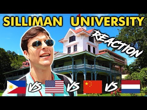 Foreigner Reacts To SILLIMAN UNIVERSITY! Filipino University Tour!